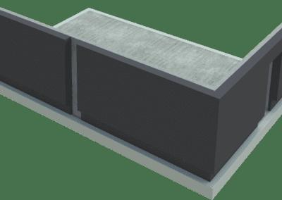 Osazení dvojice panelů s vynechanou tepelnou izolací ve spáře