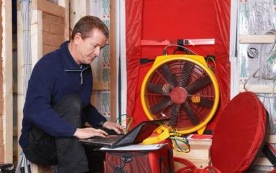 Blower-door test: zkouška těsnosti a kvalitního provedení staveb