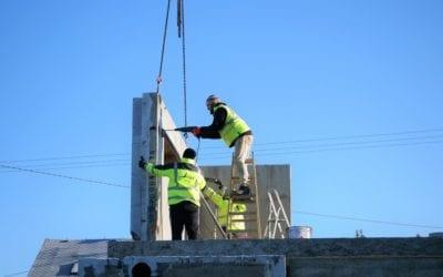 Výstavba v Těrlicku: 2. nadzemní podlaží je dokončeno